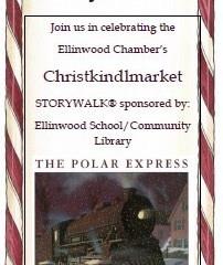 Ellinwood Community Library Polar Express StoryWalk Dec. 1st