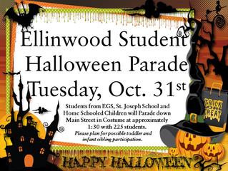 Student Halloween Parade Oct. 31st