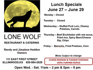Lone Wolf Lunch Specials