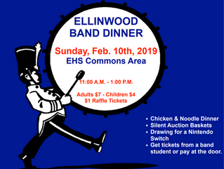 Ellinwood Band Dinner Feb. 10th