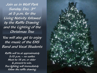 Christmas Tree Lighting in Wolf Park