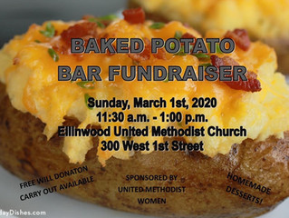 Ellinwood UMC Baked Potato Bar Fundraiser March 1st