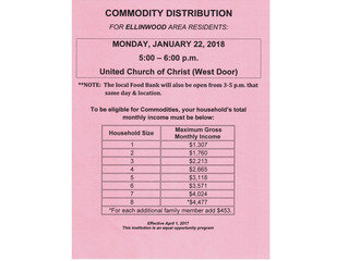 Commodities Distribution for Ellinwood Residents