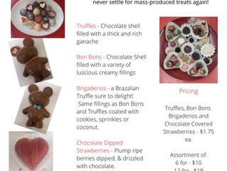Shop Local & Order your Valentine's Day treats from Two Chicks and Some Old Bird