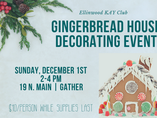 KAY Club 'Gingerbread Houses Decorating event' Dec. 1st