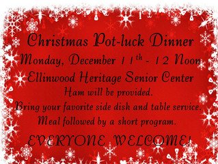 Senior Center Christmas Pot-luck