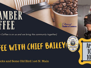 Ellinwood Chamber Coffee with Chief Bailey April 10th