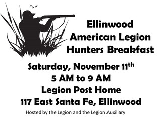 Legion Hunters Breakfast Saturday, Nov. 11th
