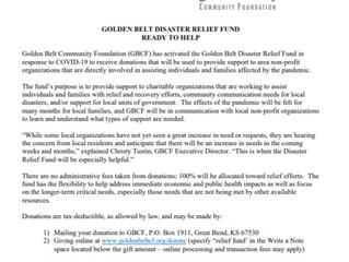 Golden Belt Community Foundation Disaster Relief Fund