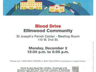 Ellinwood Community Blood Drive Dec. 2nd
