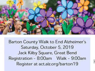 Barton County Walk to End Alzheimer's Oct. 5th