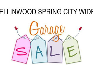 Ellinwood Spring City Wide Garage Sale April 27th, 2019 & Vendor Show Downtown 1-4 PM