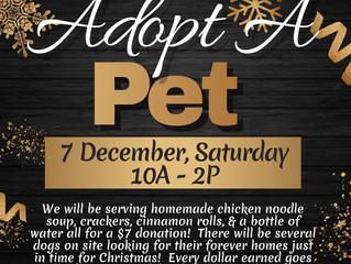 Golden Belt Humane Society Adopt A Pet Fundraiser Dec. 7th