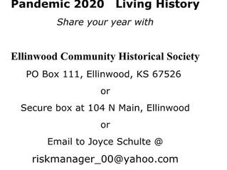 Share your 2020 year with the Ellinwood Community Historical Society