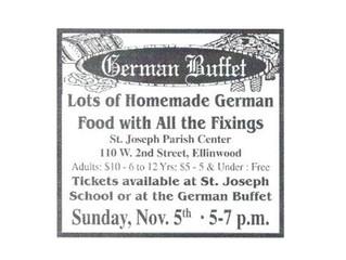 German Buffet Nov. 5th