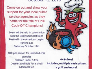 3rd Annual Battle of the Badges Chili Cook-off Oct. 12th