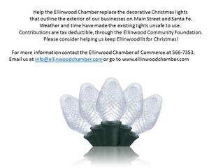 Help us keep Ellinwood lit for Christmas!