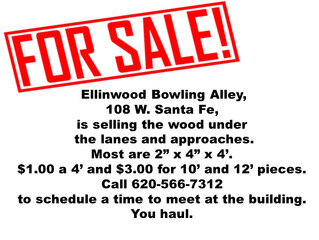 Bowling Alley Selling Wood Pieces
