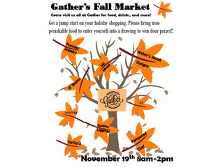 Shop at Gather Saturday!