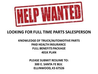 Ellinwood Business Hiring