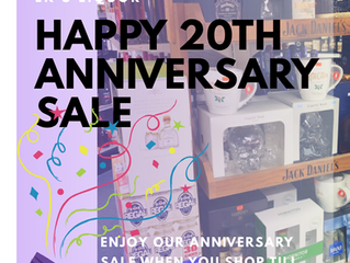 LK's Liquor:Happy 20th Anniversary Sale till Dec. 31