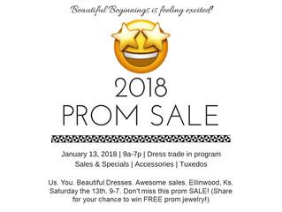 Beautiful Beginnings Prom Sale in Ellinwood