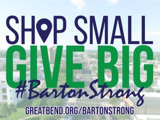Shop Small, Give Big, Barton Strong Campaign