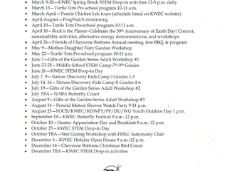 Kansas Wetlands Education Center upcoming events!
