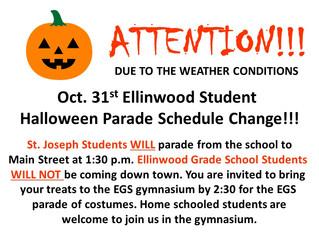 Halloween Parade Change