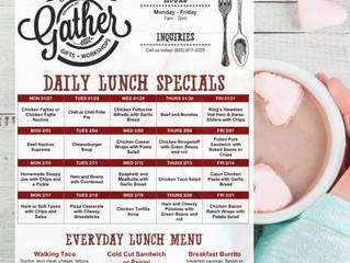 Gather Lunch Menu 1/27 - 2/21