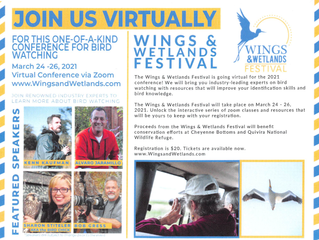 KWEC Virtual Wings & Wetlands Birding Festival: March 24-26