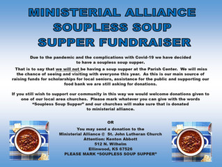 Ellinwood Ministerial Alliance Soupless Soup Supper Fundraiser