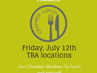 Ellinwood Chamber Lunch Friday, July 12