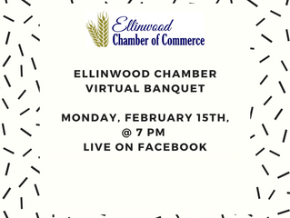 Ellinwood Chamber Virtual Banquet Feb. 15th 7 PM LIVE on Facebook