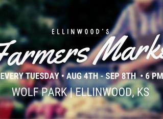 Ellinwood's Farmers Market opening Aug. 4th!
