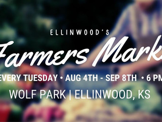 Ellinwood's Farmers Market opening Aug. 4th!