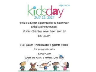 Sauer Chiropractic Kids Day