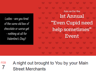"1st Annual ""Even Cupid Need Help Sometimes"" Event Feb. 7th"