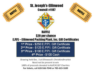 K of C Holds Raffle Event