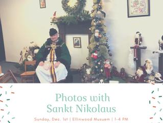 Sankt Nikolaus at Ellinwood Museum Dec. 1st