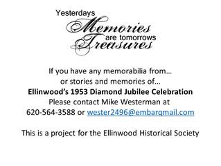 Ellinwood Historical Society Seeking Memorabilia