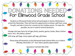 Donations Needed for EGS Santa's Workshop