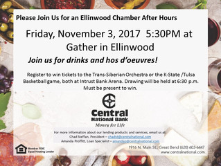 Central National Bank Host Chamber After Hours Nov. 3rd