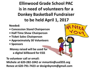 EGS Fundraiser Volunteers Needed!