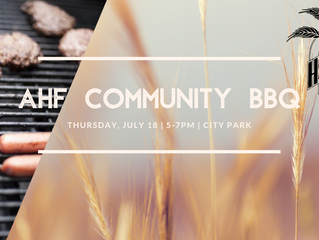 AHF Community BBQ July 18 5-7 pm
