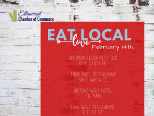 Eat Local for Valentine's Day Feb. 14th