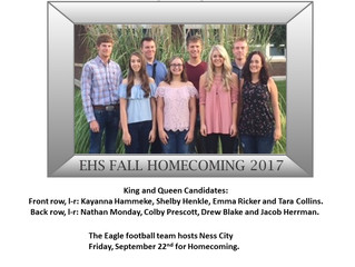 EHS Fall Homecoming Candidates
