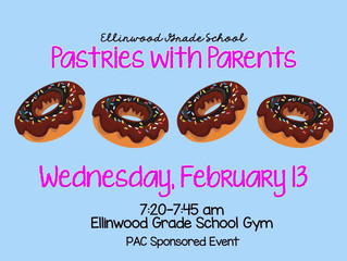 PAC host Pastries with Parents February 13th