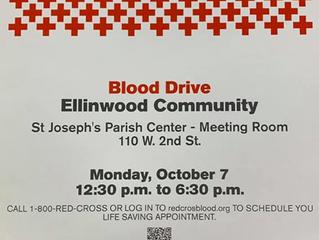 Ellinwood Community Blood Drive Oct. 7th