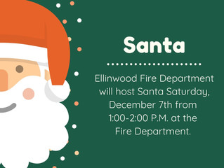 Santa is coming to the Fire Station Saturday, Dec. 7th